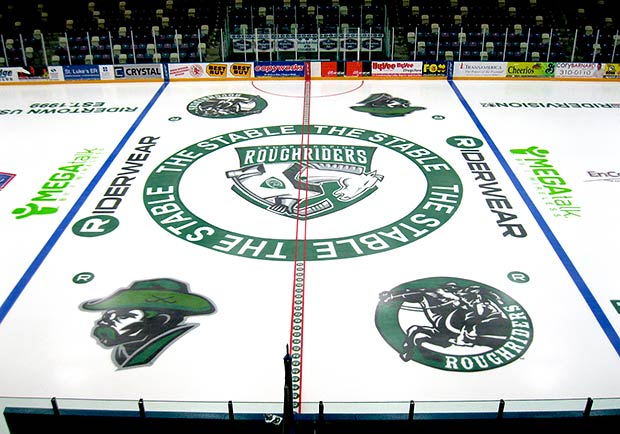 Ice Arena Painting: Roughriders